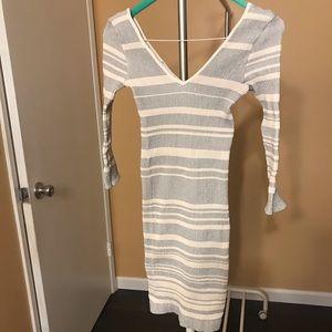 Bebe white sweater dress